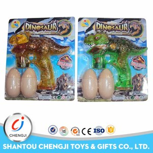 Best selling wholesale plastic dinosaur best price bubble gun with light