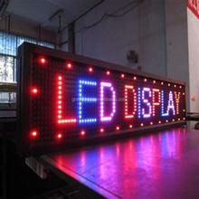 P10 outdoor double color led display/screen/signboard programmable led running text display