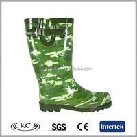 trendy wholesale green camo design mens galoshes overshoes