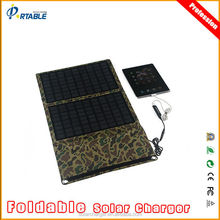 20W portable solar panel 18v battery charger for camping/outdoor use