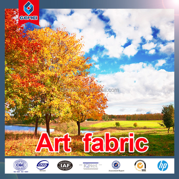 Hot Sale Fine Waterproof Art Photographic Fabric 100gsm