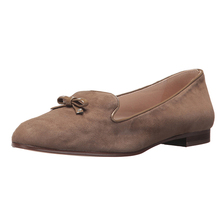 wholesale round toe cap Genuine suede leather flat women dress shoes