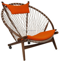 Luxury replica hans wegner round chair leisure lounge chair recliner chair