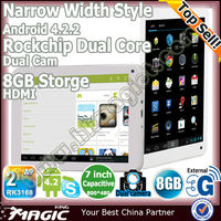 "Hot cheapest 7"" rk3066 dual core tablet android 4.2 pc"