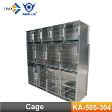 KA-505-304 Foldable Stainless Steel Modular Dog Cage with Solid Walls