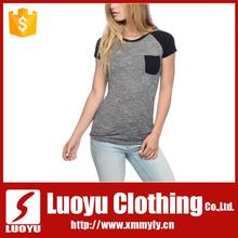 Custom ladies t-shirt with pocket