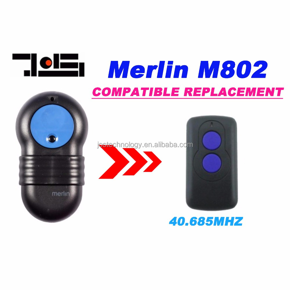 For Merlin M802 compatible Remote Control 40.685MHZ