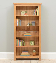 Pine used library wooden simple bookcase design