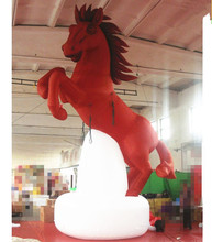 red color giant inflatable jumping horse model replicas cartoon animal