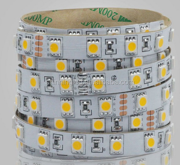 Hot sales bulk order 12/24vdc 14.4w 3 chips ww/nw/w 5050 tape strip lights