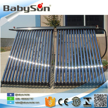 Heat pipe solar collector, split pressurized solar water heater system