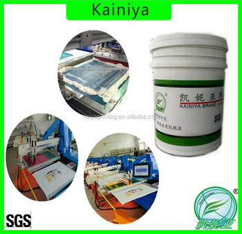 water based textile printing ink for semi-automatic machine