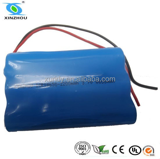 CE ROHS listed 3.6v 2200mah 18650 li ion battery