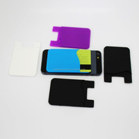 3M sticker self adhesive silicone smart wallet purse,silicon back phone purse,silicon smart wallet