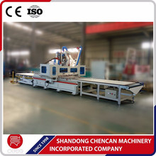 Panel furniture cabinet auto load and unload nesting ATC cnc router machine