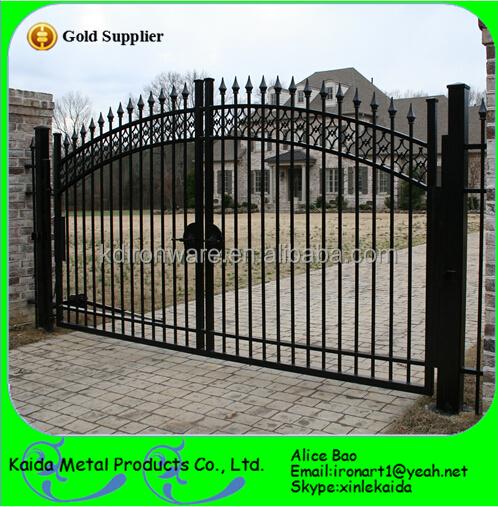 Wrought iron sliding gate main metal gates design