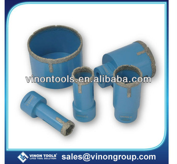 Hot sell Dry Diamond Core Drill Bit with diamond segment aside, Brazed Diamond Hole Saw for ceramic and tiles
