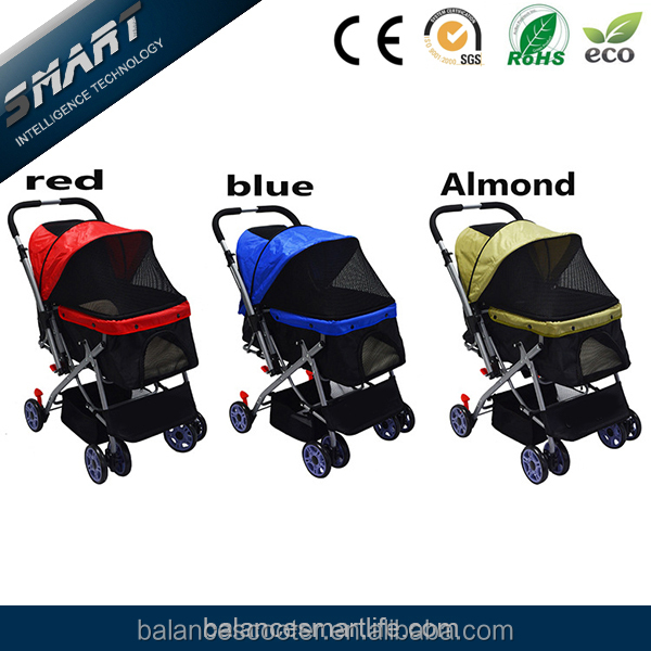 Factory Direct Sale 4 wheels pet stroller/ dogs & cats pet trolley/ dog strollers for large dogs