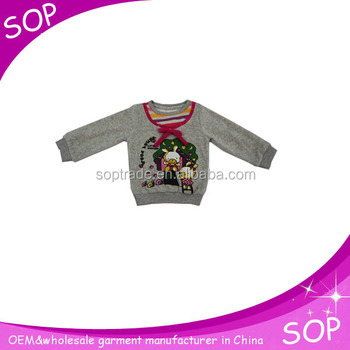 Long sleeves new winter blouses t shirt fashionable in cartoon printed pattern