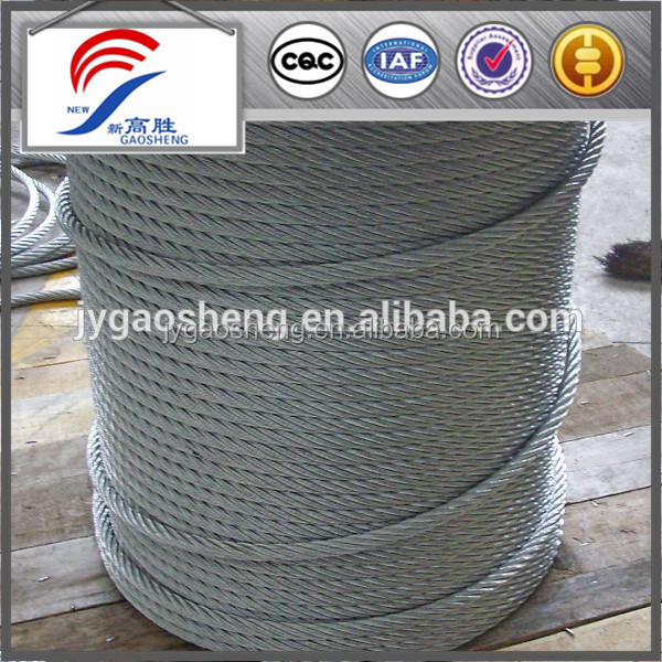 Tower crane steel cable , steel wire rope for tower crane