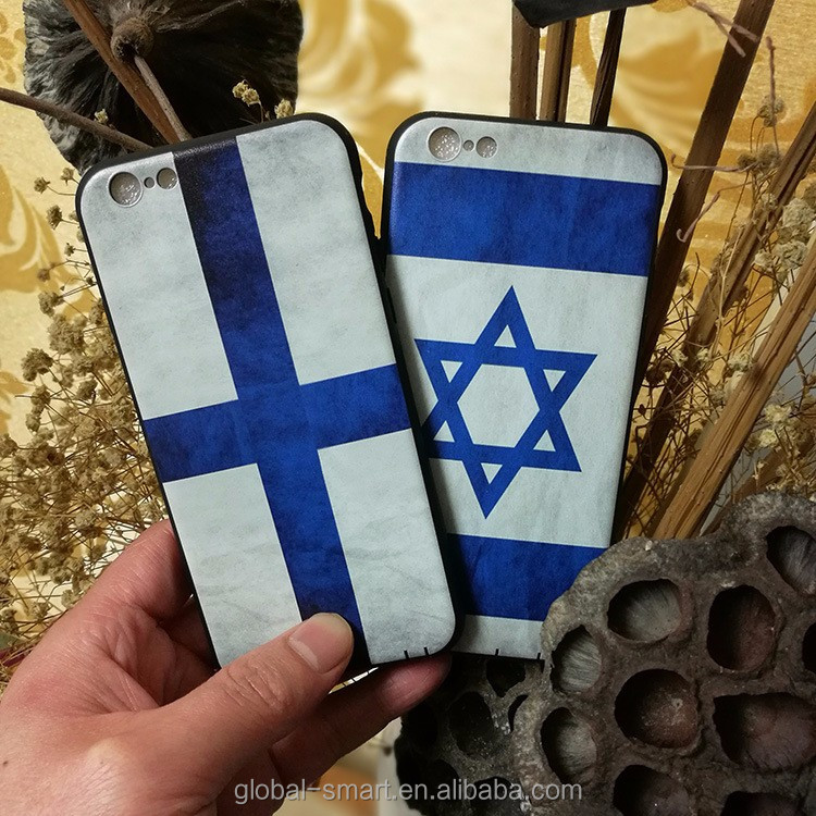 National flag printing phone cover case for iphone 7 , cheap wholesale phone back cover case with art painting