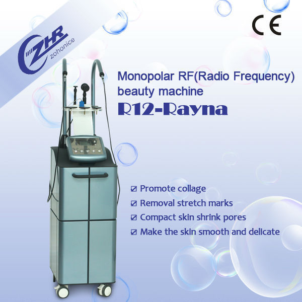 Unique fashion design rf rf for face neck and hand wrinkle removal