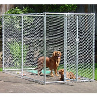 Hot sale galvanized welded wire outdoor large dog kennel wholesale