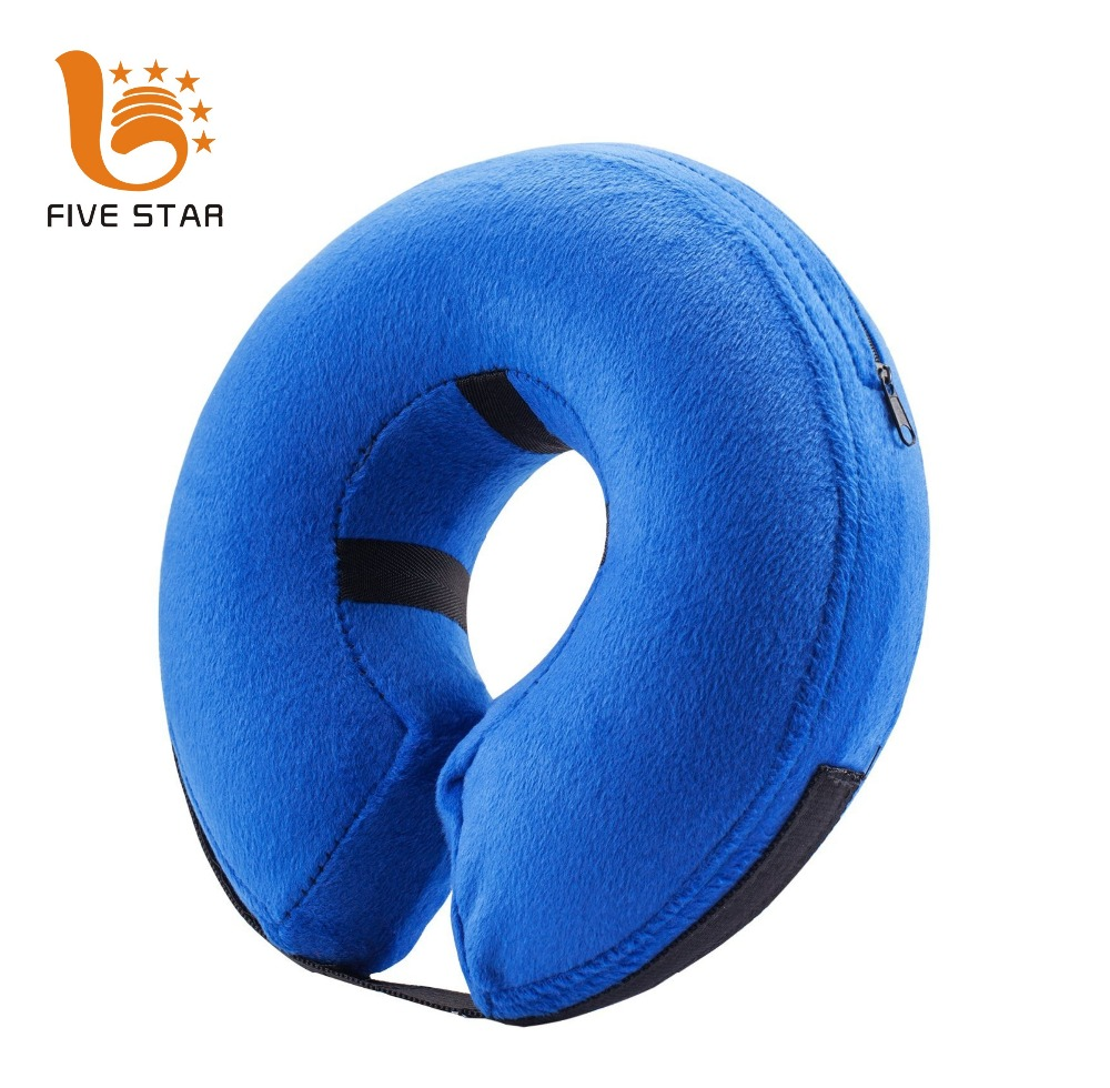 Protective Inflatable Soft Pet Recovery Elizabethan Collar for Small Medium Large Dogs and Cats