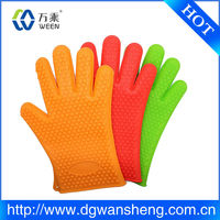 Heat resistant silicone rubber oven mitts/silicone gloves mitts,silicone gloves for cooking