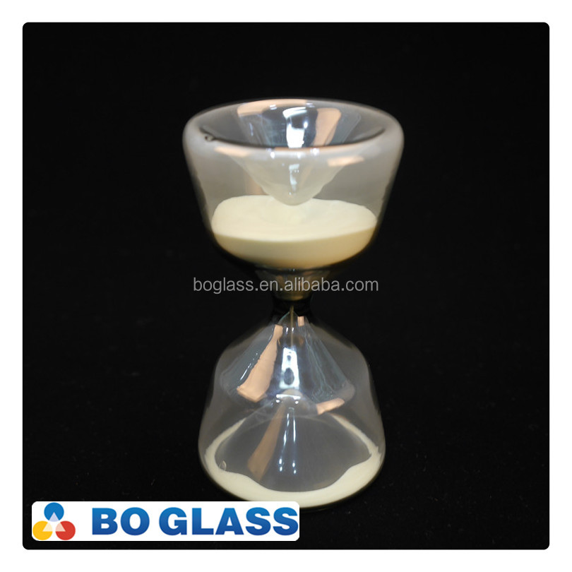 unique glass hourglass sand timer, 5 minutes hourglass, luminous sand houglass