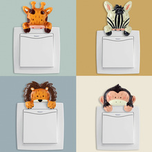 DIY Funny Cute Animal Switch Stickers Wall Stickers Home Decoration