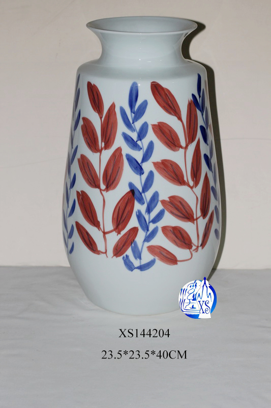 Antique porcelain hand painted fancy porcelain flower vase