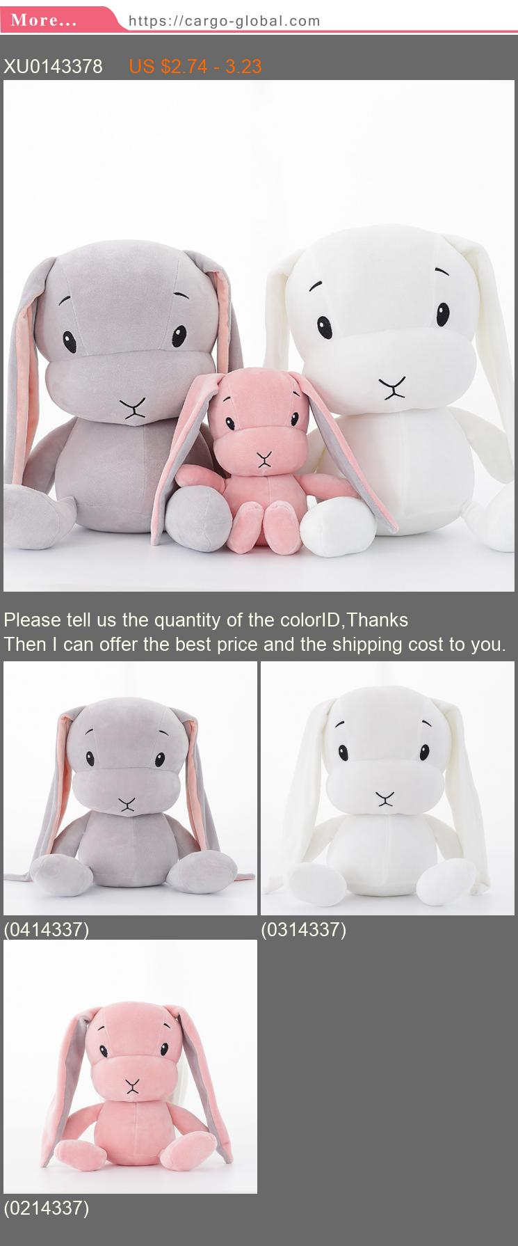 lucky boy Sunday cute rabbit plush toy stuffed soft rabbit doll baby kids toys animal toy birthday Christmas gift