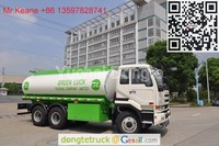 Dongfeng Nissan Diesel 6x4 320HP Aluminum Alloy Tank Truck for Light Fuel Delivery