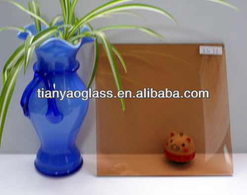Golden bronze tinted float glass