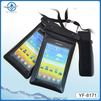 Eco-Friendly Material waterproof cellphone bag for All 4.8-5.5inch screen phones with clear window and and armband