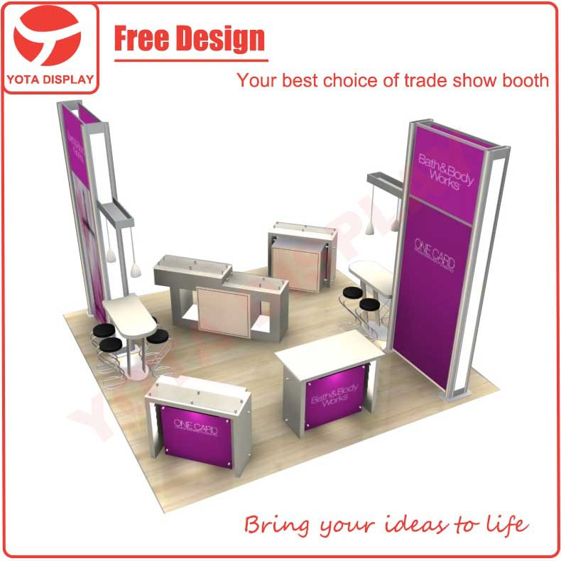 Yota portable & modular 6x6 exhibition Trade Show Display Booth
