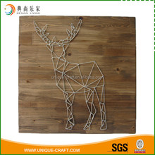 2016 cheap price wooden reindeer craft for wall decoration