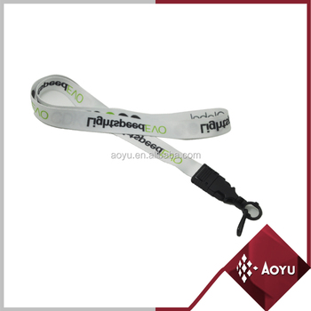 personalised customized logo neck single platic buckle lanyards
