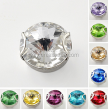 Colorful Rivoli crystal rhinestone/sew on crystals rhinestone with claw setting for clothing accessories