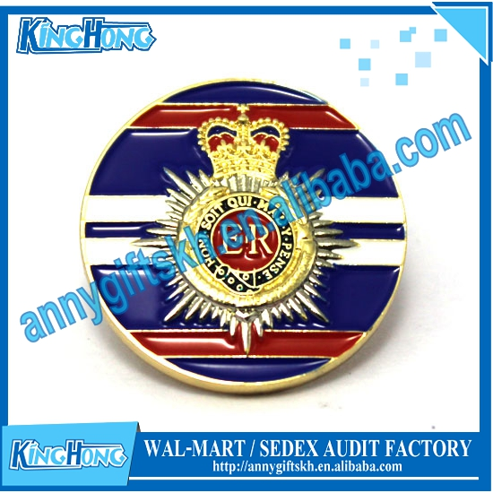 Custom metal enamel design military cap Badge