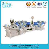 New products outdoor relaxing chat wicker sofa colour combination