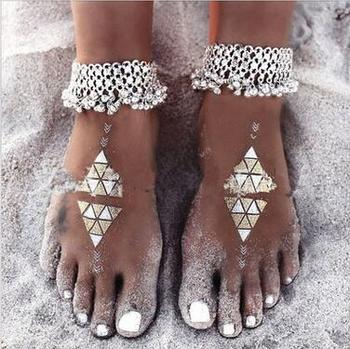 Sexy Summer Beach Charms Anklets For Women Lovely Silver Plated Tassel Bells Ankle Bracelets Barefoot Sandals Foot Chain Jewelry