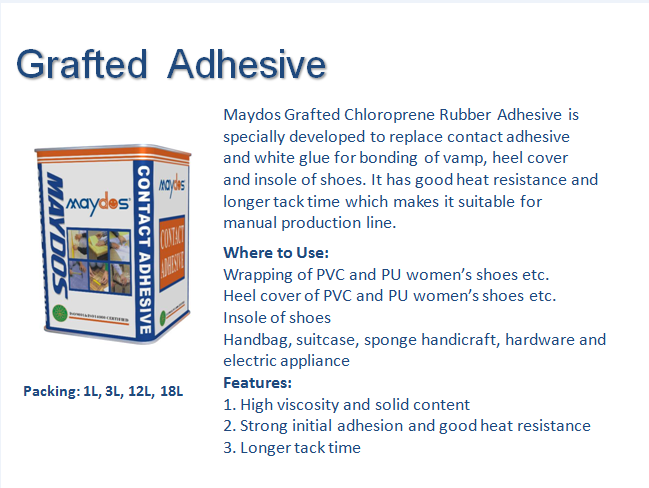 Maydos Low VOC chloroprene rubber wood furniture adhesive (China adhesive supplier/Maydos)