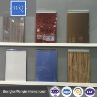 Uv Transparent Sheet / Uv Paint Surface Mdf Sheet / High Gloss Uv Mdf Sheet for kitchen cabinets and wardrobes