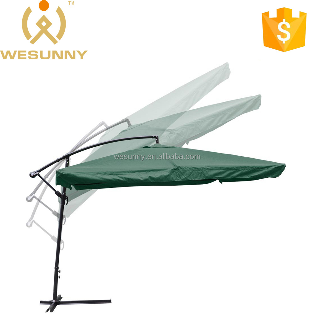 Outdoor Patio Hanging Offset Aluminum Umbrella