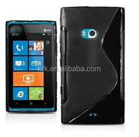 High Quality TPU S Line Wave Gel Case back Cover for Nokia Lumia 900
