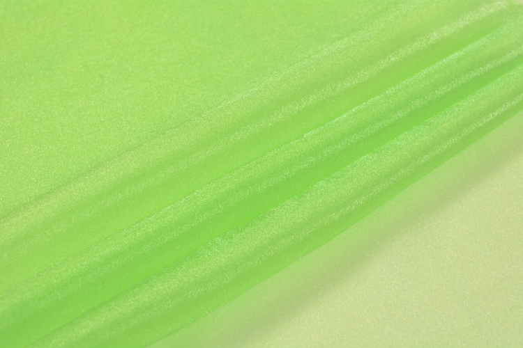 High quality green dyed lightweight thin 100% nylon organza fabric wholesale