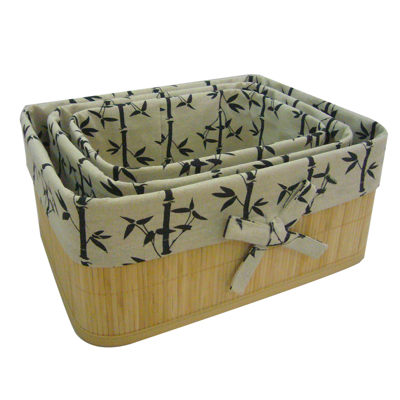 Home use natural Colored bamboo laundry basket