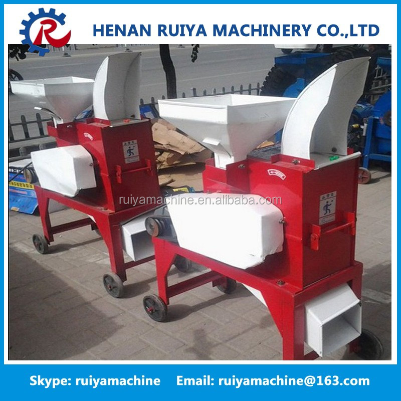 Dry wheat straw crusher/chaff cutter/forage chopper to feed animals
